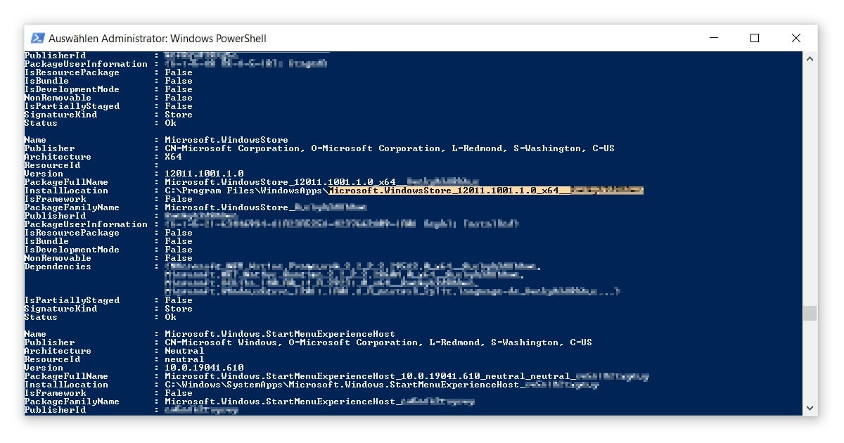 Mithilfe der PowerShell den Windows Store neu installieren